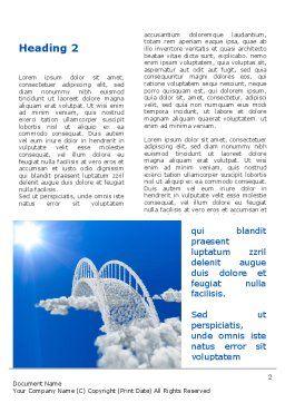 Dream Bridge Word Template, First Inner Page, 09029, Religious/Spiritual — PoweredTemplate.com