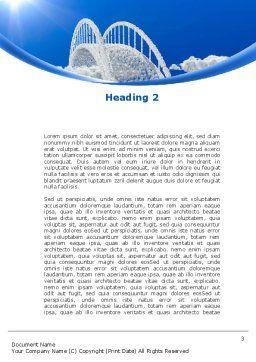 Dream Bridge Word Template, Second Inner Page, 09029, Religious/Spiritual — PoweredTemplate.com