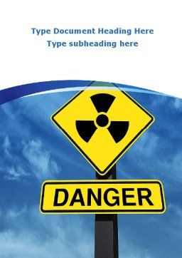 Radioactive Danger Word Template, Cover Page, 09031, Military — PoweredTemplate.com