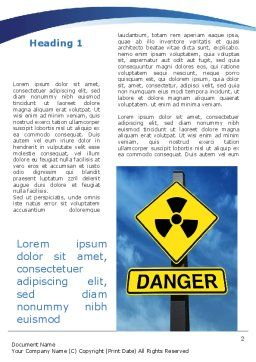 Radioactive Danger Word Template, First Inner Page, 09031, Military — PoweredTemplate.com