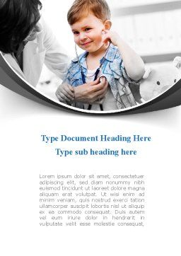 Treatment Of Pediatrician Word Template, Cover Page, 09032, Medical — PoweredTemplate.com