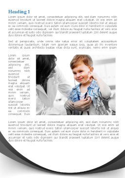 Treatment Of Pediatrician Word Template, First Inner Page, 09032, Medical — PoweredTemplate.com