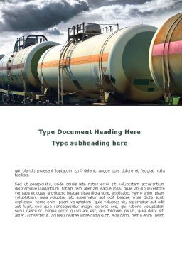 Rail Tank Cars Word Template, Cover Page, 09036, Cars/Transportation — PoweredTemplate.com