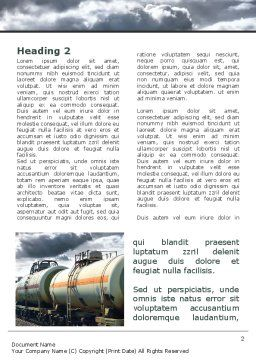 Rail Tank Cars Word Template, First Inner Page, 09036, Cars/Transportation — PoweredTemplate.com