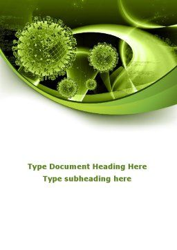 Virus Structure Word Template, Cover Page, 09037, Technology, Science & Computers — PoweredTemplate.com
