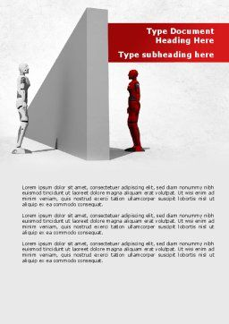 Wall Of Misunderstanding Word Template, Cover Page, 09038, Consulting — PoweredTemplate.com