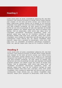 Wall Of Misunderstanding Word Template, Second Inner Page, 09038, Consulting — PoweredTemplate.com