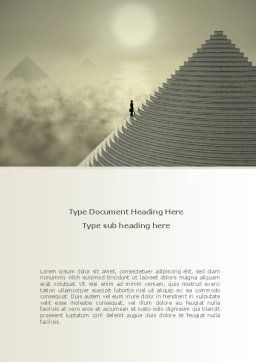 Career Pyramid Word Template, Cover Page, 09039, Business — PoweredTemplate.com