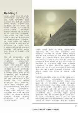 Career Pyramid Word Template, First Inner Page, 09039, Business — PoweredTemplate.com