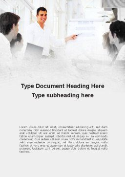 Presentation Of Consultant Word Template, Cover Page, 09043, Consulting — PoweredTemplate.com