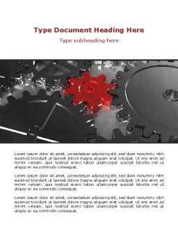 Pinion Transmission Word Template, Cover Page, 09044, Utilities/Industrial — PoweredTemplate.com