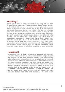 Pinion Transmission Word Template, Second Inner Page, 09044, Utilities/Industrial — PoweredTemplate.com