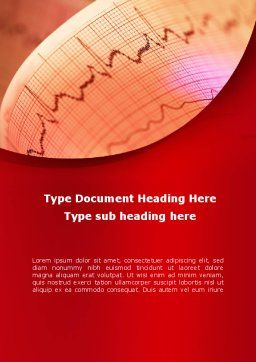 Cardiogram Band Word Template, Cover Page, 09045, Medical — PoweredTemplate.com