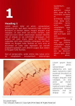 Cardiogram Band Word Template First Inner Page