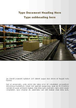 Automated Warehouse Word Template, Cover Page, 09048, Careers/Industry — PoweredTemplate.com