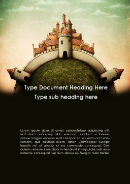 Fantasy Castle Word Template Cover Page