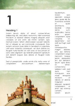 Fantasy Castle Word Template First Inner Page