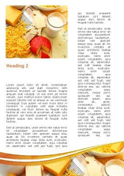 Hard Cheese And Milk Word Template, Second Inner Page, 09051, Food & Beverage — PoweredTemplate.com