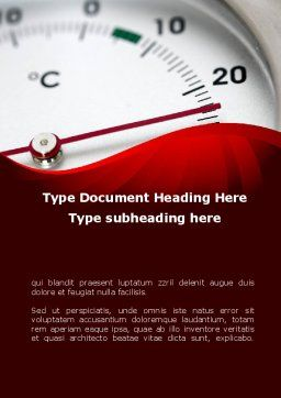 Right Business Temperature Word Template, Cover Page, 09053, Utilities/Industrial — PoweredTemplate.com
