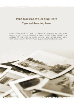 Vintage Photo Word Template, Cover Page, 09056, People — PoweredTemplate.com