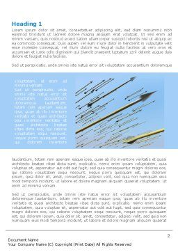 Flying Arrows Word Template, First Inner Page, 09057, Business — PoweredTemplate.com