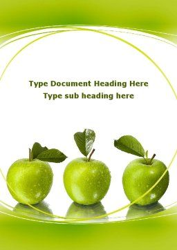 Green Apples Word Template Cover Page
