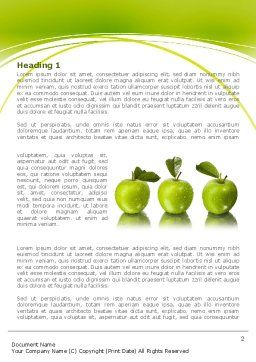 Green Apples Word Template First Inner Page