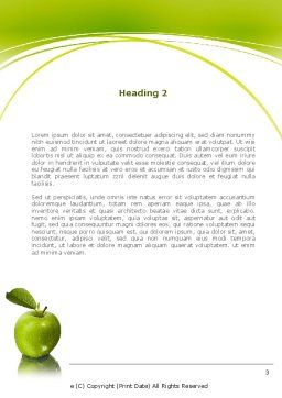 Green Apples Word Template Second Inner Page