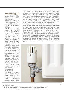 Heat-saving Technologies Word Template, First Inner Page, 09065, Construction — PoweredTemplate.com