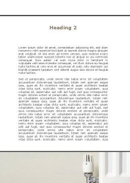 Heat-saving Technologies Word Template, Second Inner Page, 09065, Construction — PoweredTemplate.com