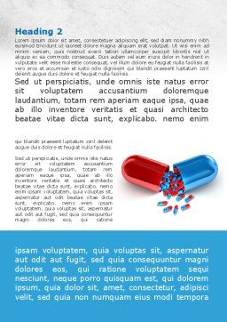 Red And Blue Pilule Word Template, First Inner Page, 09066, Medical — PoweredTemplate.com