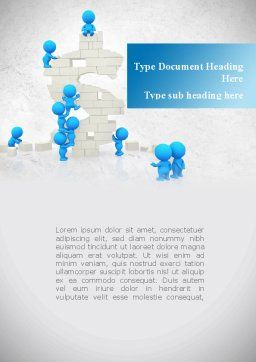 Consolidation of Dollar Word Template, Cover Page, 09068, Business — PoweredTemplate.com