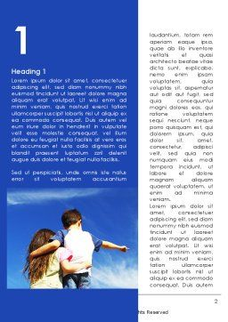 Sister And Brother Word Template, First Inner Page, 09072, People — PoweredTemplate.com