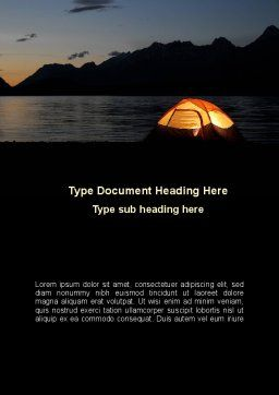 Quiet Lake Word Template, Cover Page, 09073, Holiday/Special Occasion — PoweredTemplate.com