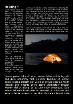 Quiet Lake Word Template, First Inner Page, 09073, Holiday/Special Occasion — PoweredTemplate.com