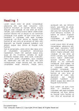 Human Brain Medicine Word Template, First Inner Page, 09077, Medical — PoweredTemplate.com