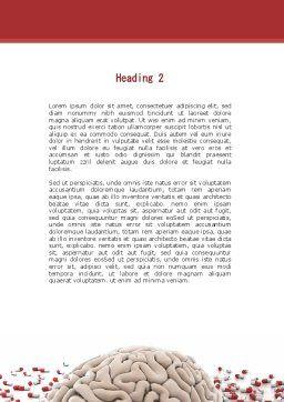 Human Brain Medicine Word Template, Second Inner Page, 09077, Medical — PoweredTemplate.com