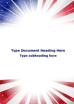 American Flag Stylized Word Template Cover Page
