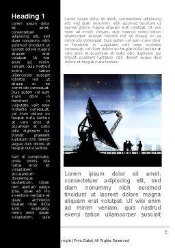 Antennas Word Template, First Inner Page, 09082, Telecommunication — PoweredTemplate.com