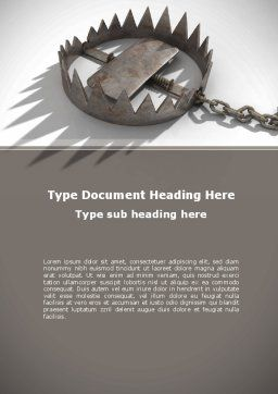 Trap Word Template, Cover Page, 09083, Nature & Environment — PoweredTemplate.com