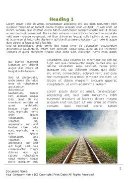 Railway Stretching Into The Blue Distance Word Template First Inner Page