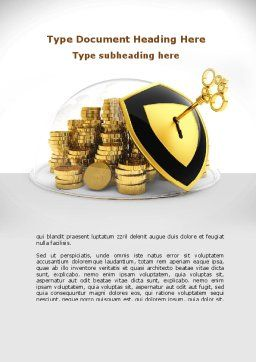 Key Savings Protection Word Template, Cover Page, 09085, Financial/Accounting — PoweredTemplate.com