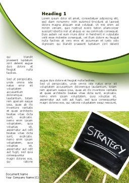 Strategy Sign Word Template, First Inner Page, 09087, Business Concepts — PoweredTemplate.com