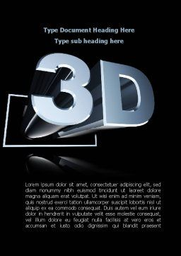 Three Dimensions Visual Technology Word Template, Cover Page, 09089, Technology, Science & Computers — PoweredTemplate.com