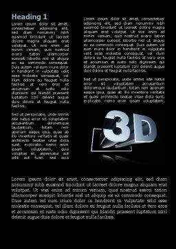 Three Dimensions Visual Technology Word Template, First Inner Page, 09089, Technology, Science & Computers — PoweredTemplate.com