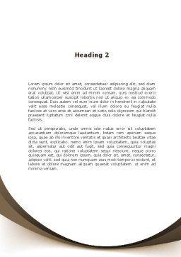 Schoolgirl Word Template Second Inner Page
