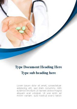 Medicine in Tablets Word Template, Cover Page, 09093, Medical — PoweredTemplate.com