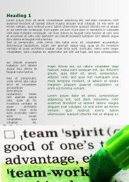 Teamwork Training Principles Word Template, First Inner Page, 09094, Business — PoweredTemplate.com