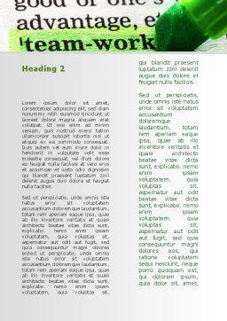 Teamwork Training Principles Word Template, Second Inner Page, 09094, Business — PoweredTemplate.com