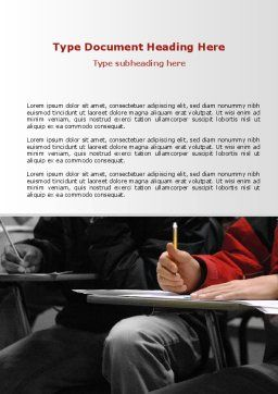 Student in a Lecture Word Template, Cover Page, 09095, Education & Training — PoweredTemplate.com